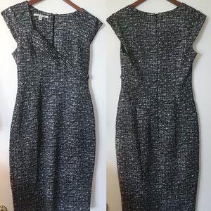 Maggy London Black/White Scuba Knit Sheath Dress